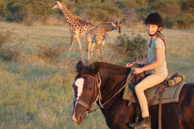horseback safari child