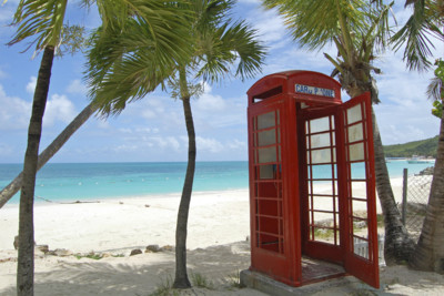 phonebox on beach
