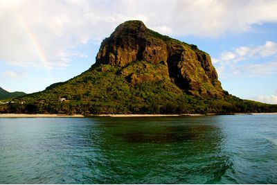 View of Mount Le Morne, Mauritius