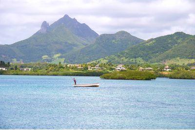 Local fisherman, Mauritius