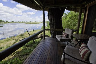 Savuti Camp, river view