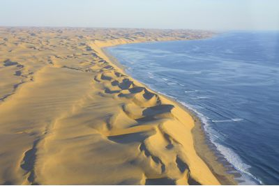 An aerial view of the Skeleton Coast, Namibia