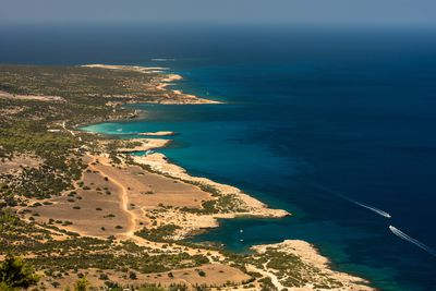 Aerial shot of Cyprus Coast