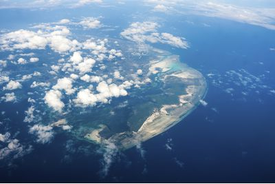 An aerial view of Pemba Island, Tanzania