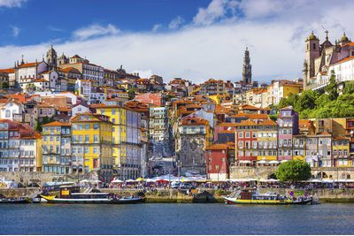 Colourful houses in Porto, Portugal