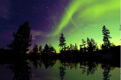 The Northern Lights in Swedish Lapland, Sweden