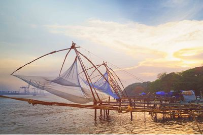 traditional chinese fishing nets in cochin