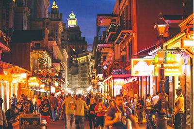 New Orleans evening street