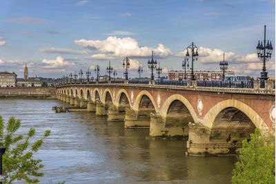 bordeaux bridge and river
