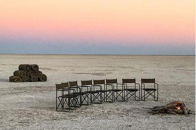 botswana scenery and camp chairs