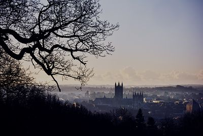 An image of Canterbury Cathedral in the mist