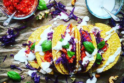 tacos in oaxaca, Mexico