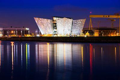 Titanic Museum at Night