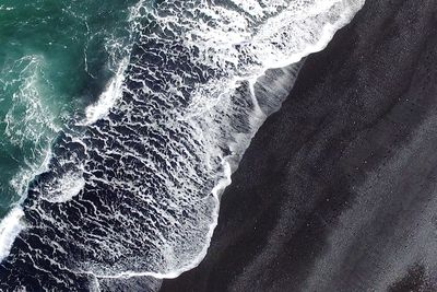 black sandy beach in Iceland
