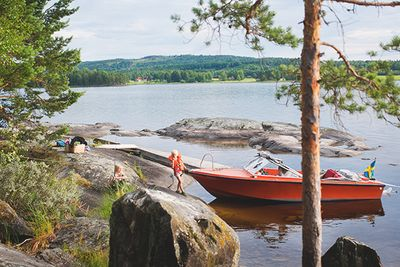 summer kayaking in sweden