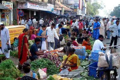 a food market in Mumbai