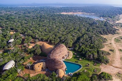 an aerial view of Wild Coast Tented Lodge