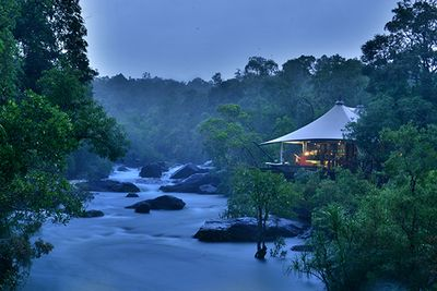 A tent on the river at Shinta Mani Wild