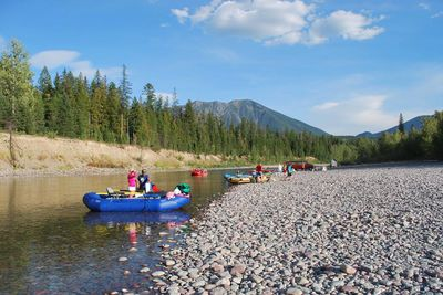 kayaking in Glacier National Park
