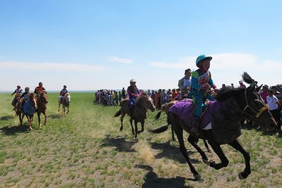 Horse riding at Naadam Festival