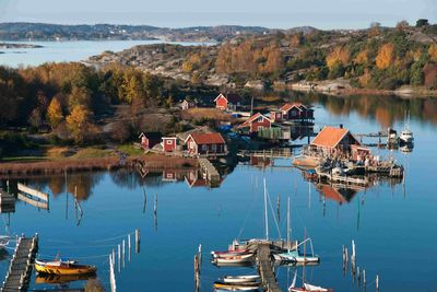 fishing boats in west sweden