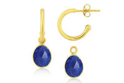 Manhattan gold hoop earrings