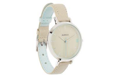 Almond powder blue watch