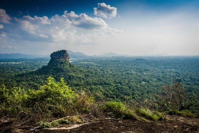 sigiriya in the distance