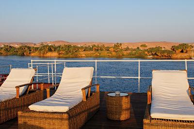 Sun loungers aboard
