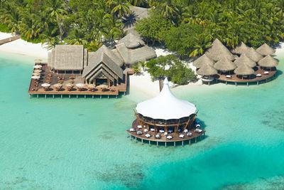 maldives baros aerial close
