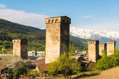 mestia town in gerogia