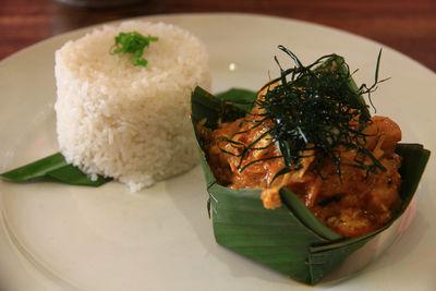 fish amok rice cambodian food