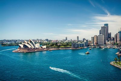 aerial sydney view opera house