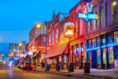 Memphis street at night
