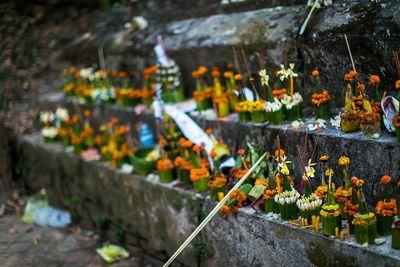 laos floral offerings