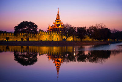 myanmar mandalay palace night