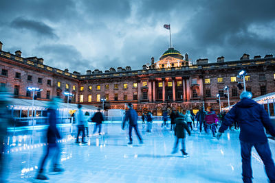 Iceskating at Somerset House