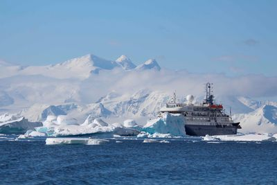 ship in antarctica