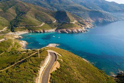 Corsica coastal road