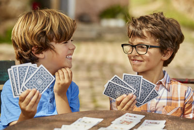 Children Playing Card Games