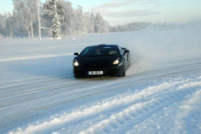 Car on Ice Fields