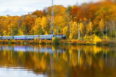 Train in Sweden during Autumn