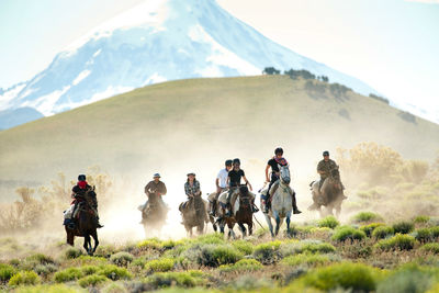 People Riding across the Andes