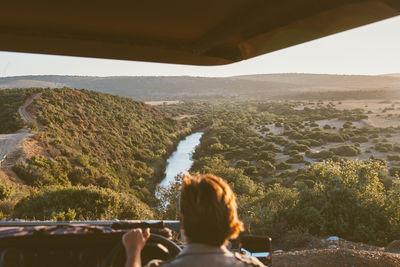 safari car view