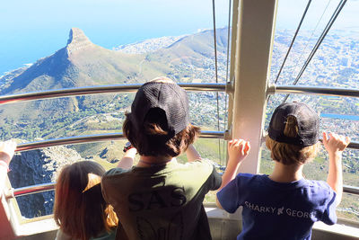 family holiday children cape town view