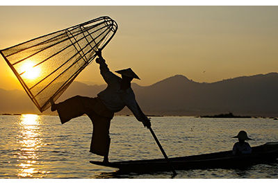 inle lake fisherman myanmar unesco