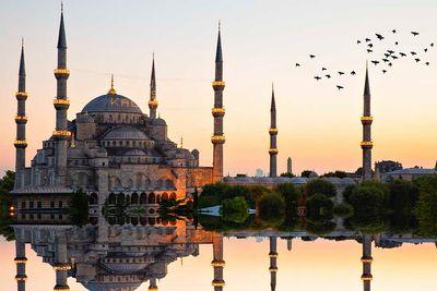instanbul mosque sunrise