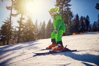 Saas-Fee Child Skiing