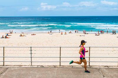 Running On Bondi Beach, Australia