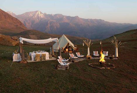 secret glamping camp